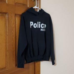 Medium Gildan  black hooded Police hoodie